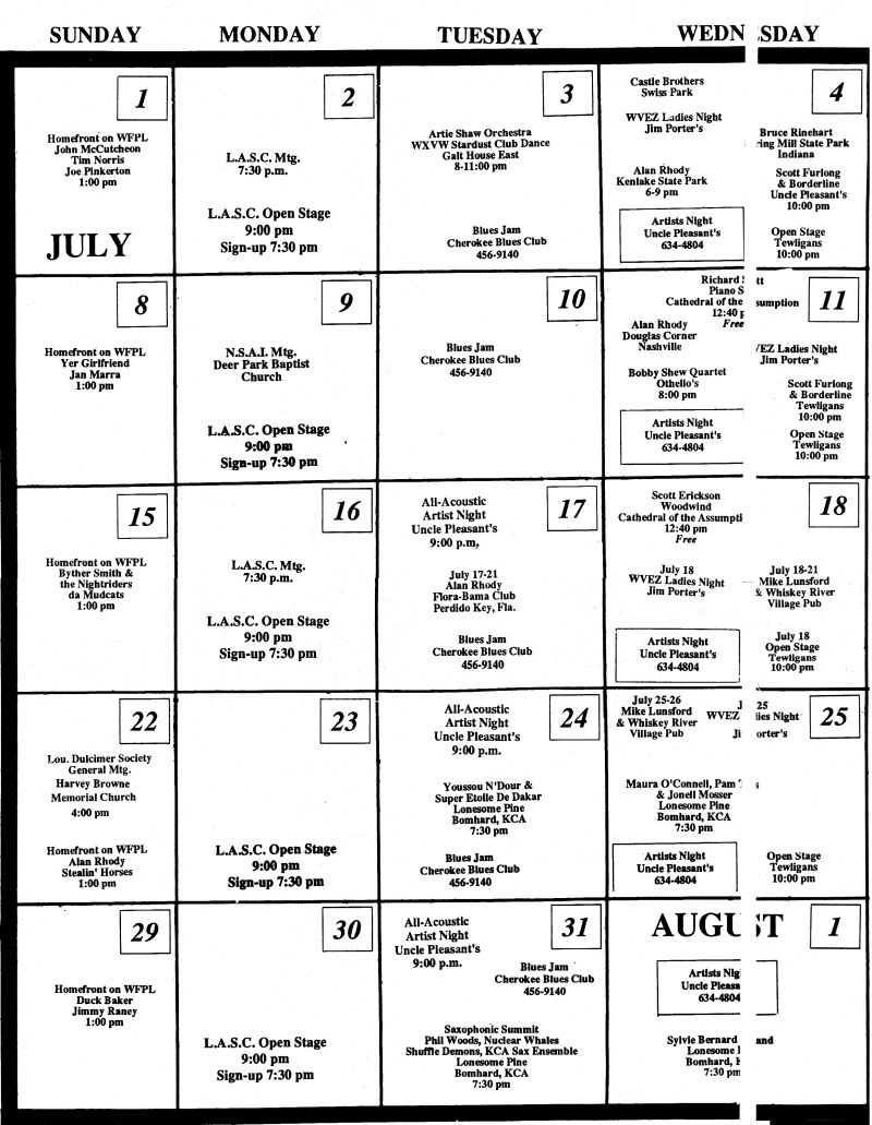 1990 Calendar.1990 July Calendar July 1990