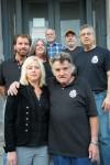 Front row: Margot Maxwell, Marvin Maxwell. Rear, l to r: Wayne Young, Rick Robbins, Gary Sampson, Dave Modica