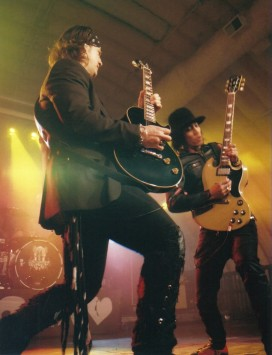 Buckcherry - guitarists Keith Nelson, left and Stevie Don, right