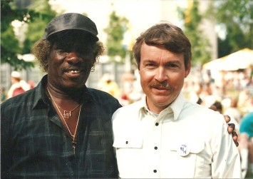 James Peterson and Keith Clements, 1995 Chicago Blues Festival